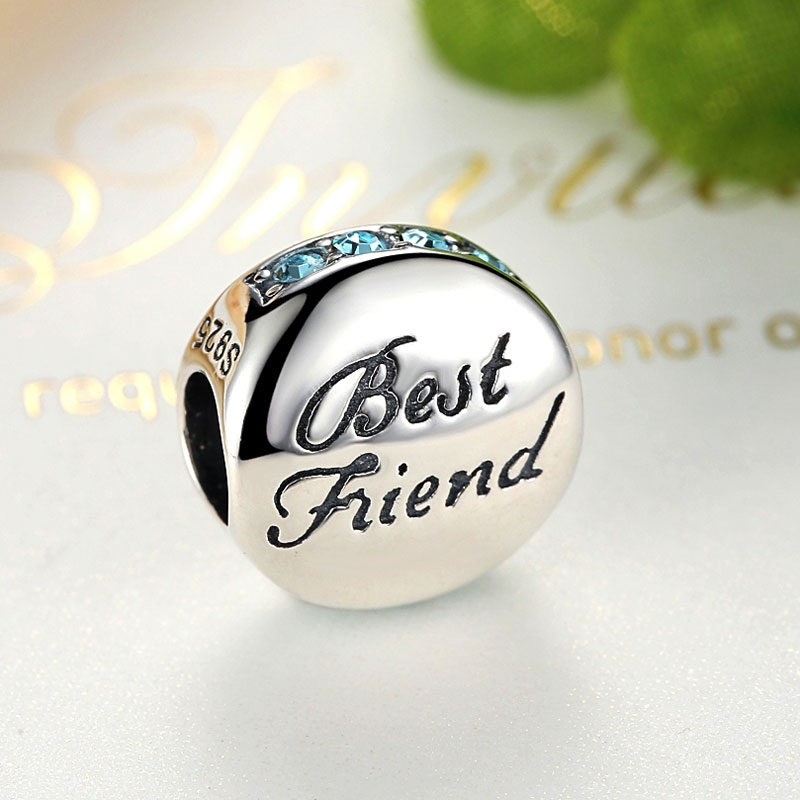 Sterling Silver Best Friend Charm