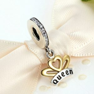 Sterling Silver Queen Pendant