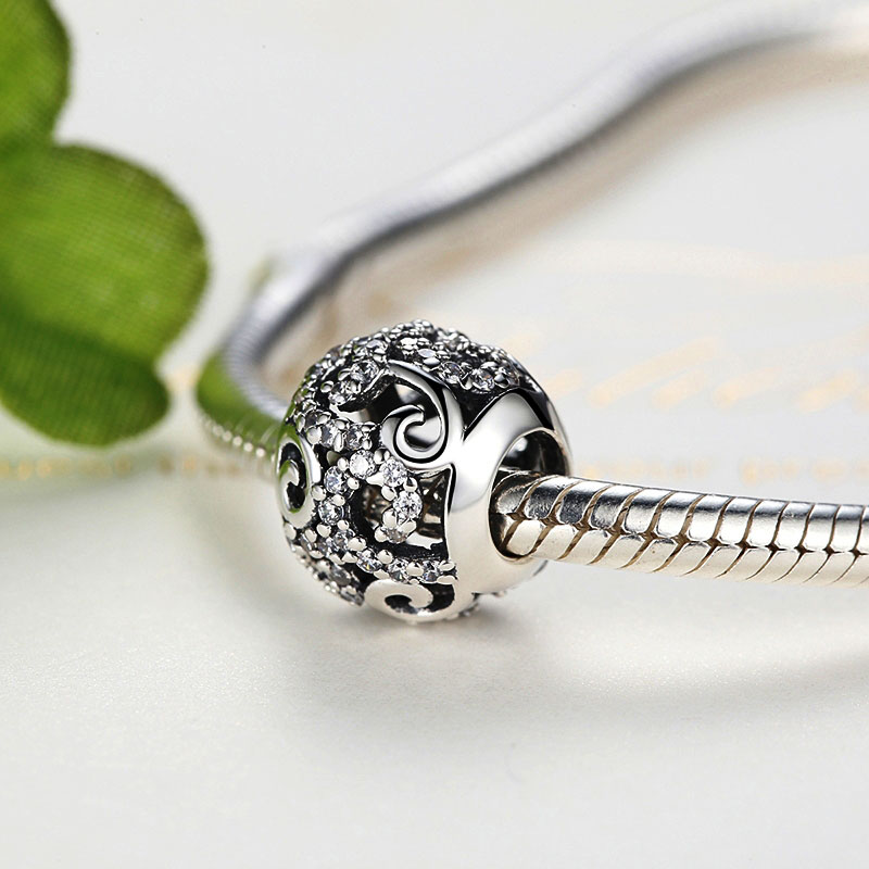 Sterling Silver Shiny Swirl Charm