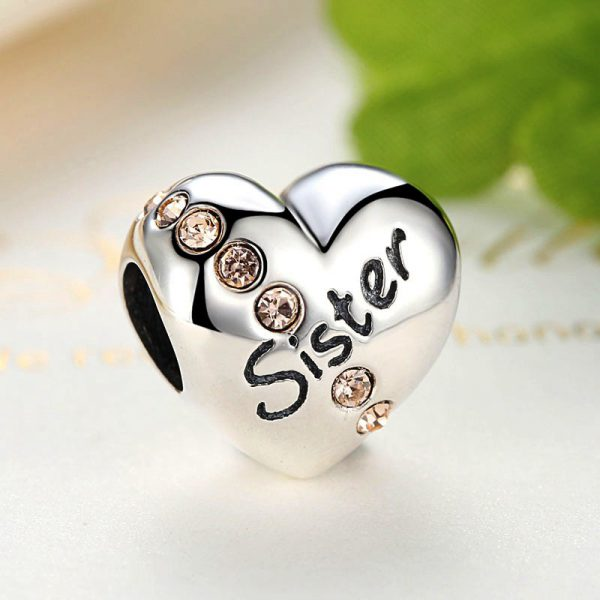 Sterling Silver Sister Charm Bead