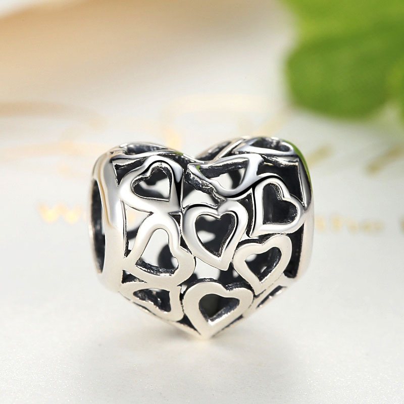 Sterling Silver Vintage Heart Charm
