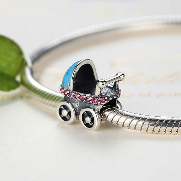 Sterling Silver Welcome New Baby Charm