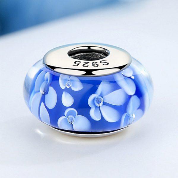 Blue Petals Murano Glass