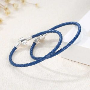 Charmhouse Blue Leather Bracelet