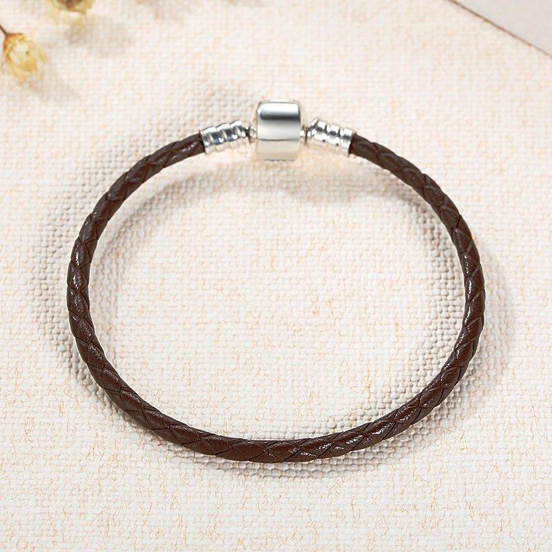 Charmhouse Brown Leather Bracelet