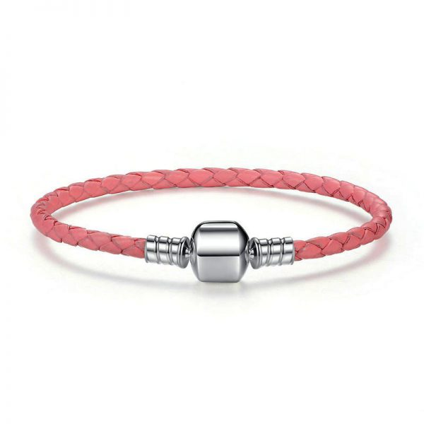 Charmhouse Pink Leather Bracelet