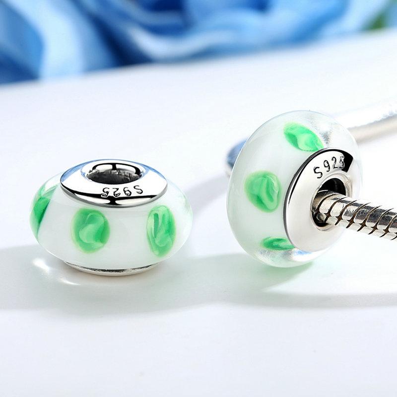 Green Leafs Murano Glass