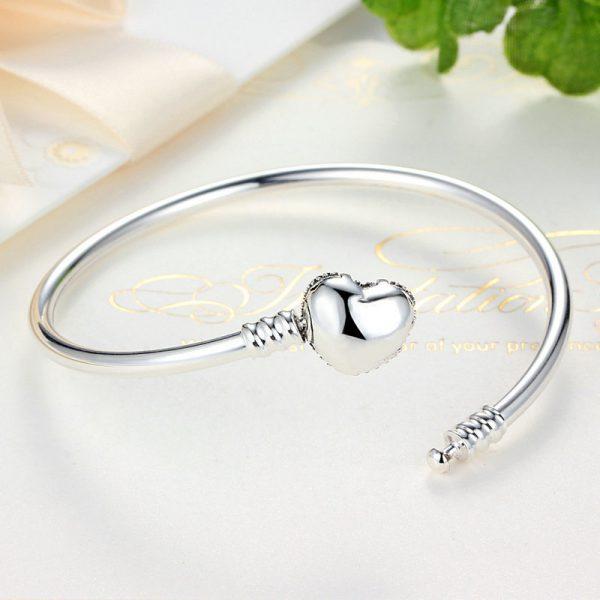 Love U Silver Bangle