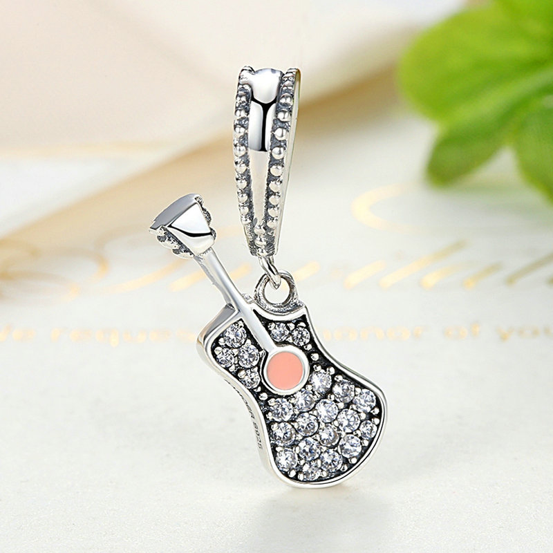 Guitar Sterling Silver Pendant