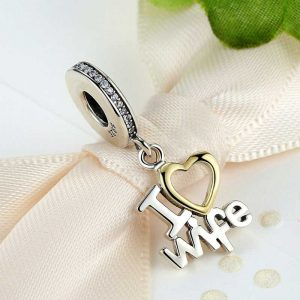 Sterling Silve I Love Wife Pendant