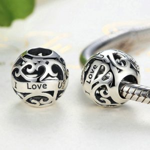 Sterling Silver Lovers Charm