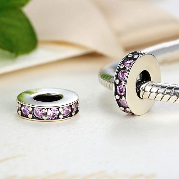 Sterling Silver Pink Line Spacer