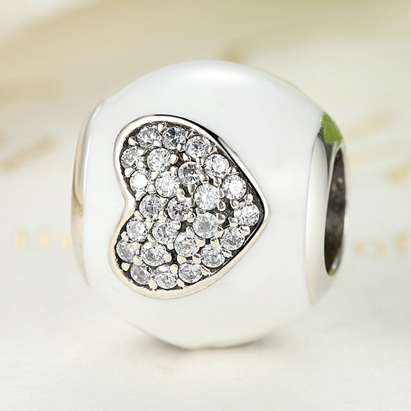 Sterling Silver White Ball Charm