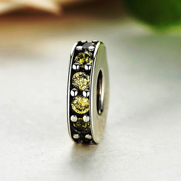 Sterling Silver Yellow Line Spacer