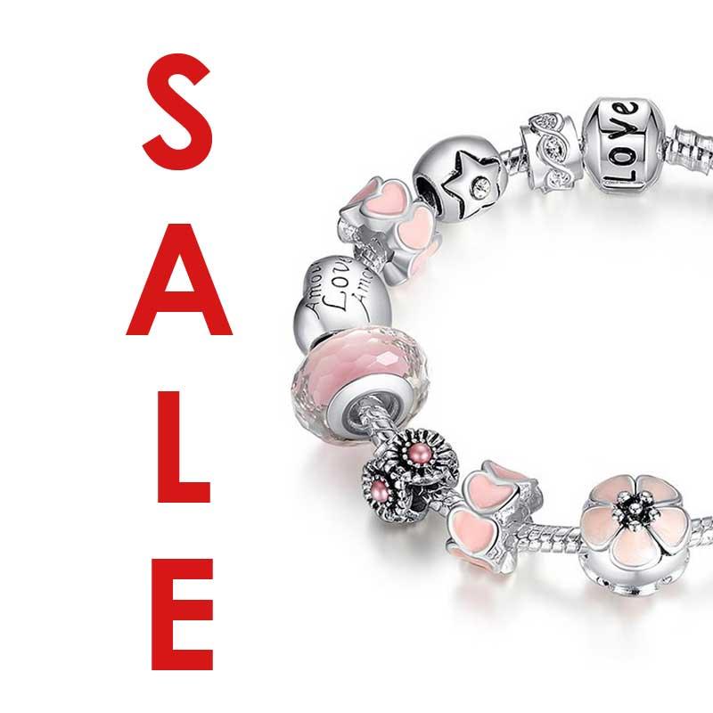 Silver Charms Bracelets Sale